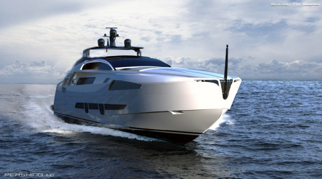 Pershing-140-superyacht-front-view
