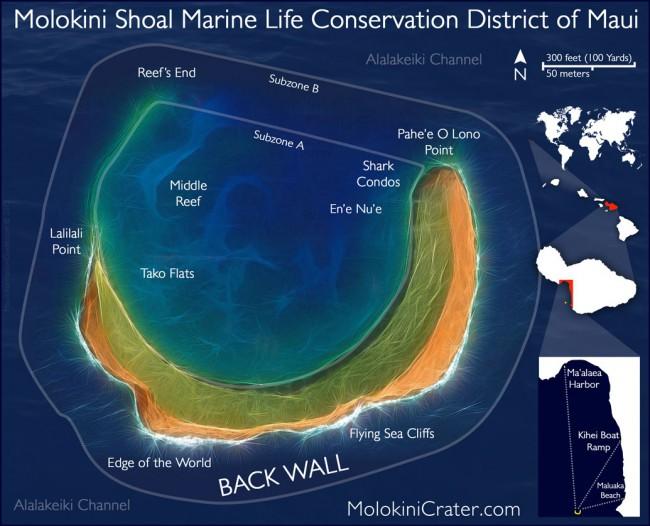 molokini-snorkeling-map