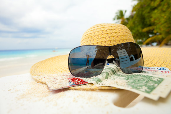hat-sunglasses-beach-money