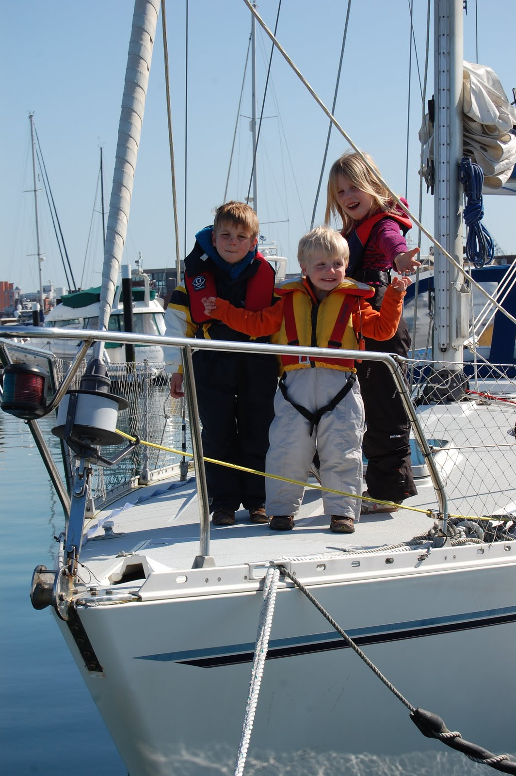 Children on the foredeck