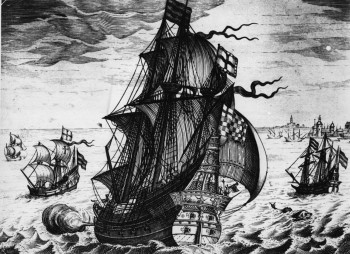 Circa 1550, A Spanish galleon of the mid 16th Century on the high seas (Photo by Hulton Archive/Getty Images)