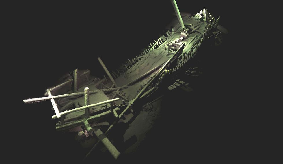 Photogrammetric model of a shipwreck