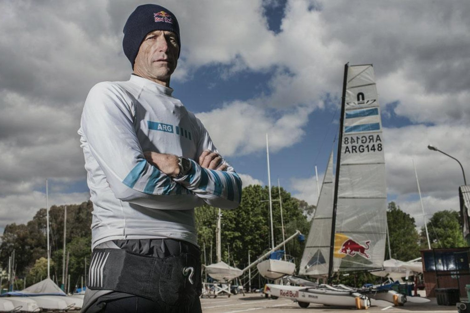 Santiago Lange poses for a portrait at Club Nautico San Isidro in Buenos Aires, Argentina on October 10th, 2014 // Gustavo Cherro/Red Bull Content Pool // P-20141014-00460 // Usage for editorial use only // Please go to www.redbullcontentpool.com for further information. //