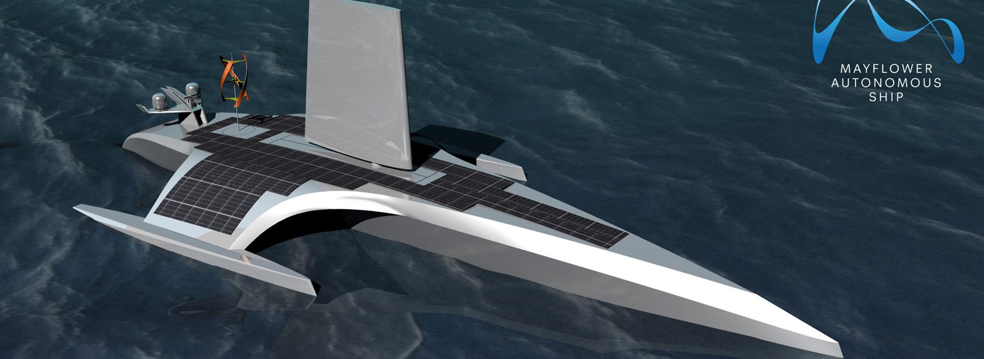 Átkel az óceánon az önmagát navigáló hajó