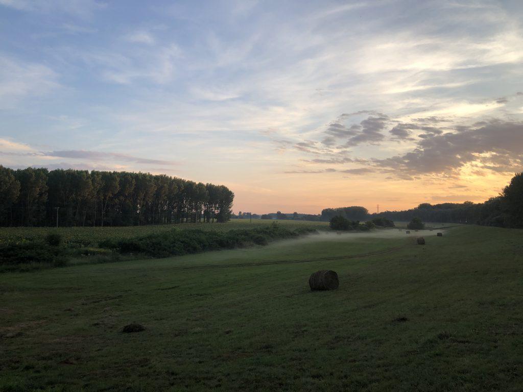 Dombrád naplemente
